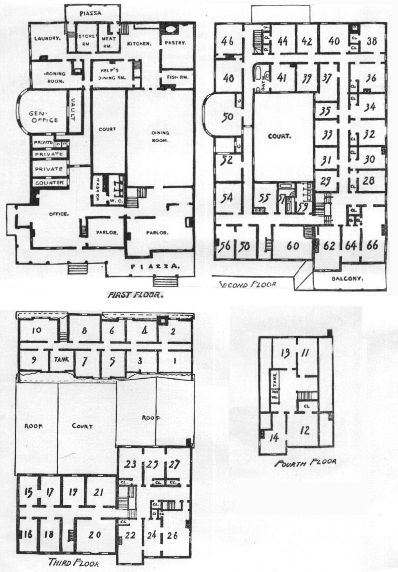 The mansion house at poland spring for Huge mansion floor plans