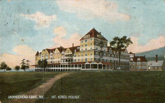 New Mount Kineo House Ca 1910 Postcard Postmarked January